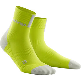 cep Short Socks 3.0 Hombre, lime/light grey